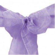 Organza Sash Chair Cover Lavender rental