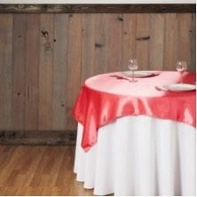 60 in. Square Satin Overlay Coral