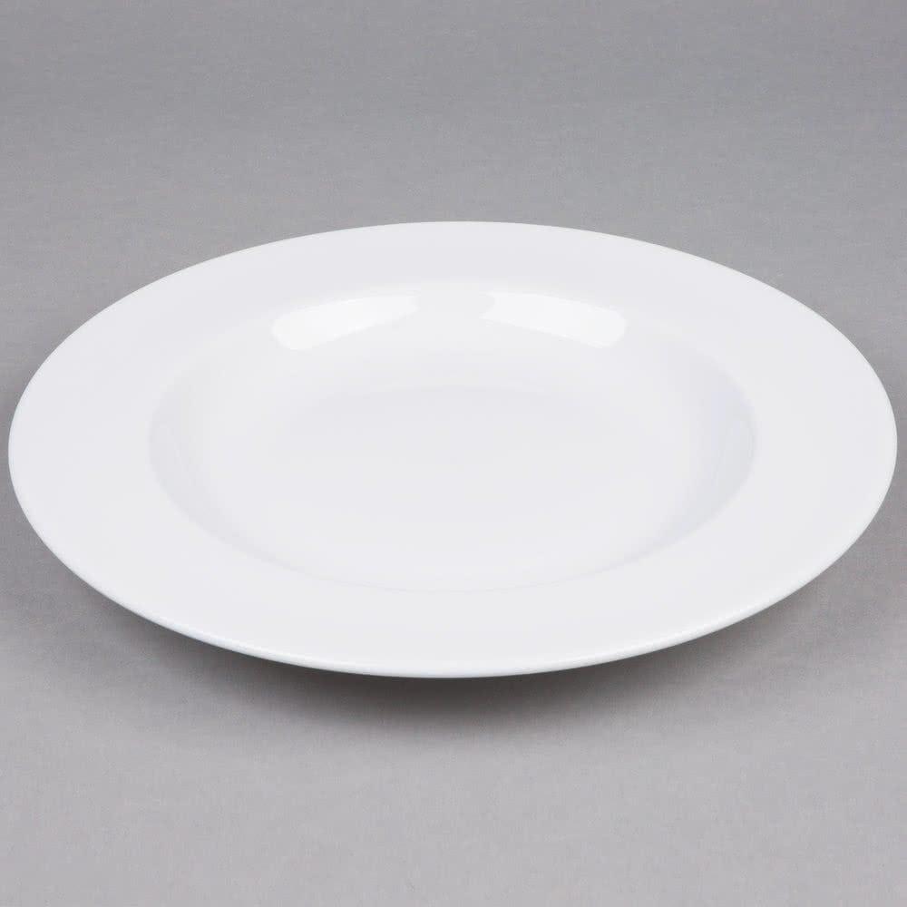 12 white pasta bowl 18oz round