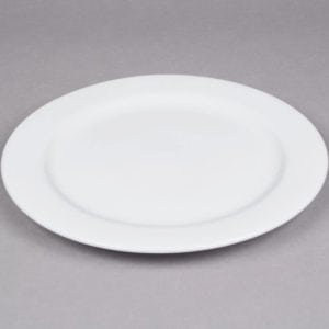 12in white Plate, Round Dinner Porcelain Fully Vitrified & Oven Proof