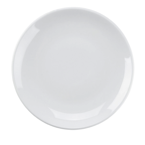 6 and a half in white plate