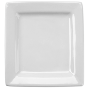10 1/8' White Square Plate, Porcelain Fully Vitrified & Oven Proof