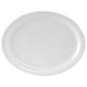 """13 1/8 x 10 1/8"""" white oval platter"""