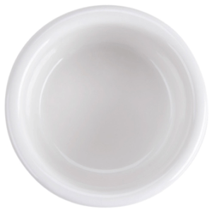 "3"" White Ramekin Fluted 2 1/2 oz, Fully Vitrified & Oven Proof"