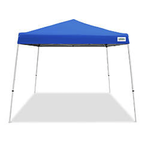 10 X 10 Pop Up Tent Canopy Light Duty Blue Slant Leg Include Installation 4 Sand Bags Stakes For Safe Tie Down Equipment Canopy Tent Good Events Event Rentals