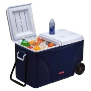 75QT 6-Day Wheeled Cooler - Blue