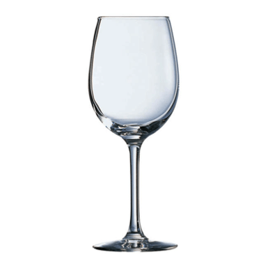White vine glass