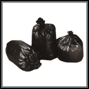 Trash Can Liners, black