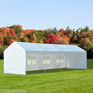 10' x 20' Tent with Window Walls, Include Set Up & Take Down - Needs 6 Barrels for Tie Down