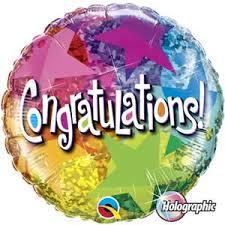 congratulation stars foil