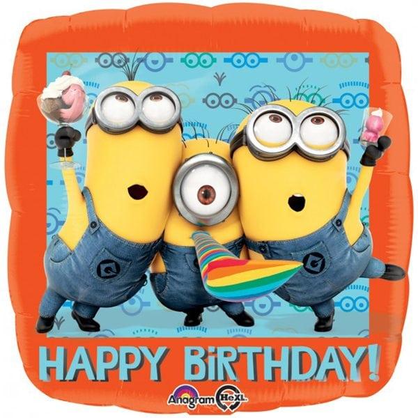 despicable me happy birthday foil