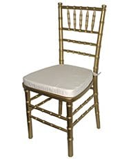 Chiavari Chair Gold with Ivory Cushion - Special Event Seating
