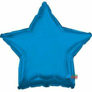 18′ Solid Aqua Blue Star Shape – each