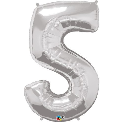 number 5 silver 34′