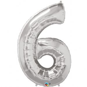 number 6 silver 34′