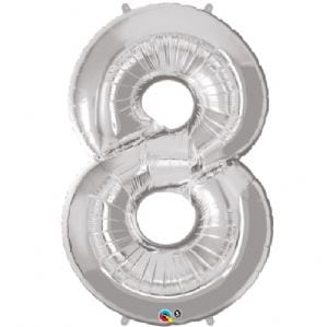 number 8 silver 34′