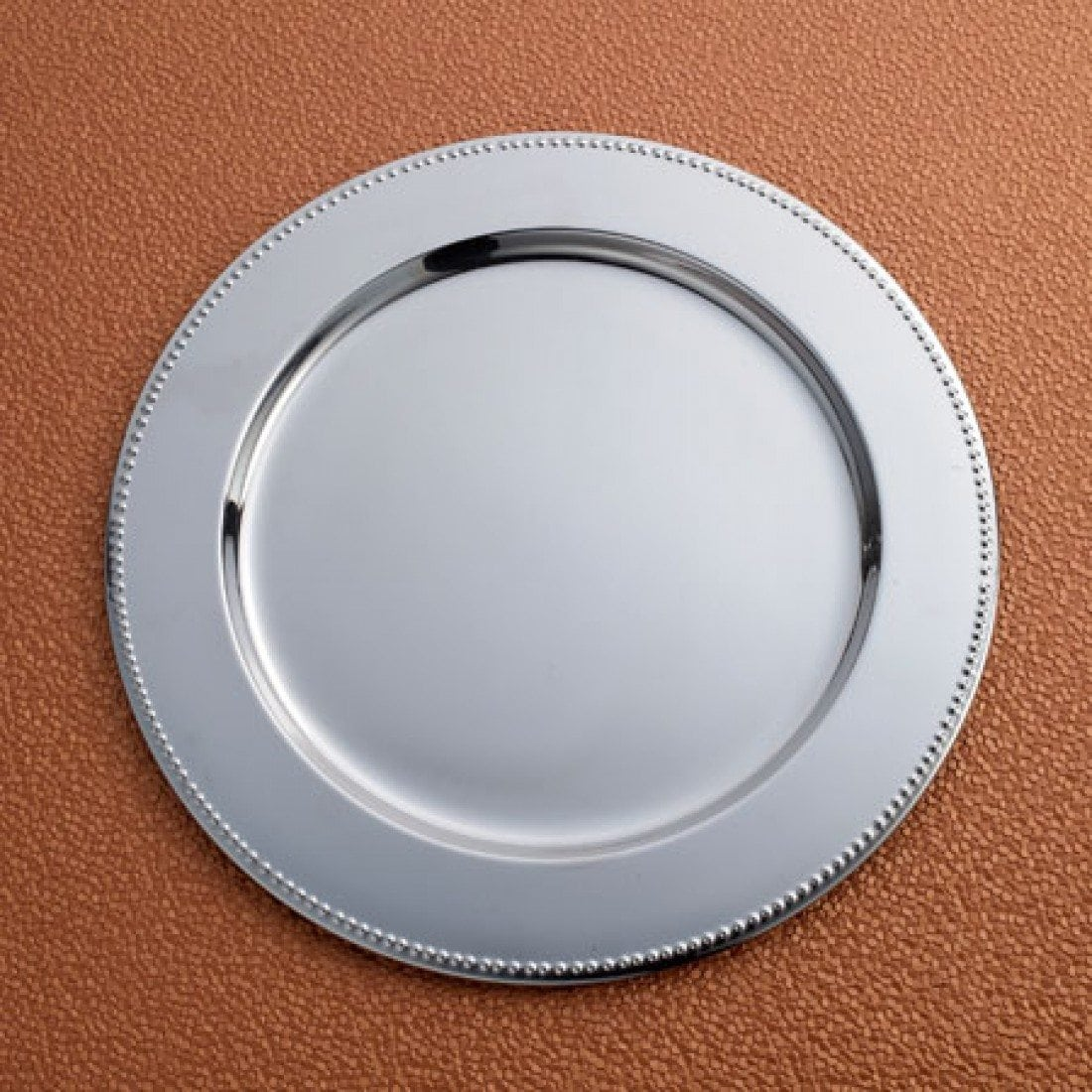 Beaded Border Steel Charger plate 13′