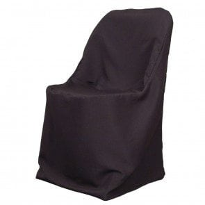 Black Cover for Standard Folding Chairs - Poly