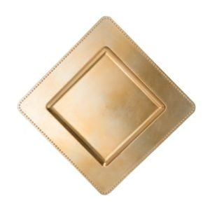 Gold Square Charger Plate 13""