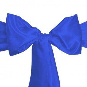 satin sash royal blue