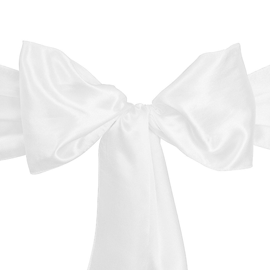 satin sash white