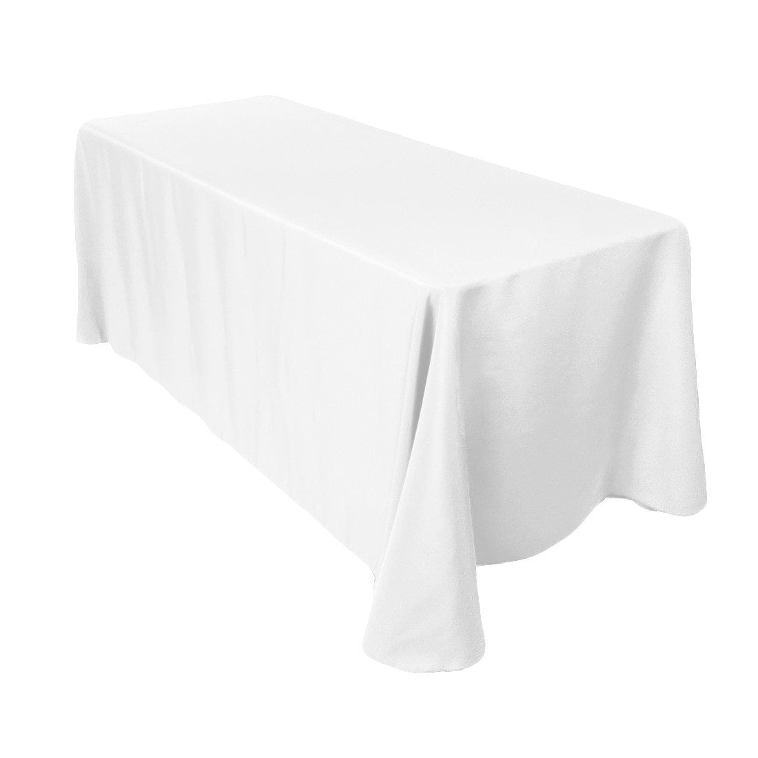 90 x 132 white long tablecloth