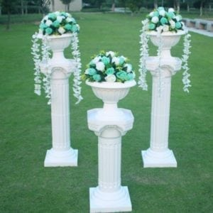 White Plastic Columns - Multi Decorations ( Price is for each column)