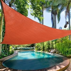 "Sun Shade Triangle TERRACOTTA 16'5"" x 16'5"" - UV Block"