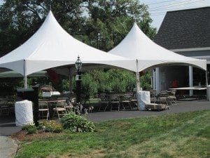 "20' x 40' High Peak Tent ""Top Only"", Include Set Up & Take Down - Needs Barrels for Tie Down Equipment"