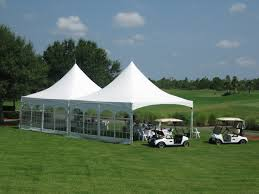 20' x 40' High Peak Tent with Window Walls, Include Set Up & Take Down - Needs Barrels for Tie Down Equipment