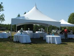 "20' x 20' High Peak Tent ""Top Only"", Include Set Up & Take Down - Barrels for Tie Down Equipment is Extra"
